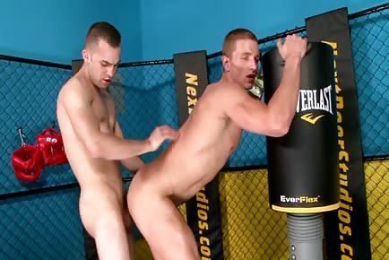 Gay jocks MMA gym sex