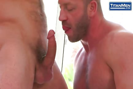 Hairy Sexy Daddy Takes Big Cock From Otter Guy And Moans Loud