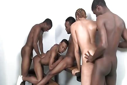 Huge Breeding Orgy With Bareback Interracial Cocks