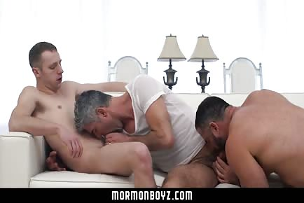 Mormon boy fucking older guys threesome