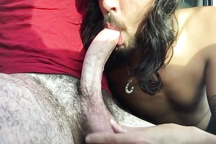 Amateur deepthroat blowjob and swallowing cumshot