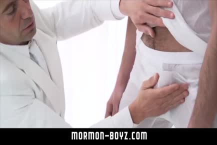 Amazing daddy loves boy anus bareback MORMON-BOYZ.COM