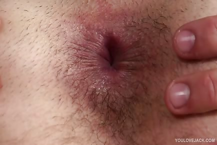 Closeup asshole fingering and masturbation stud Nathan Green