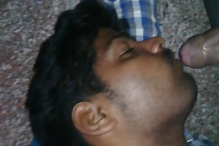 Straight Indian takes cumshot to face while sleeping