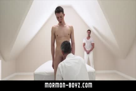Daddy seeing tiny boy barebacked by mature silver hunk MORMON-BOYZ.COM