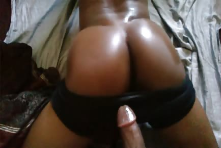Black ass fucked POV amateur