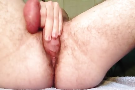 Self fucking creampie and anal orgasm contractions