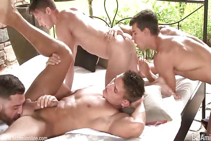 Fucking hot guys big dick orgy HD