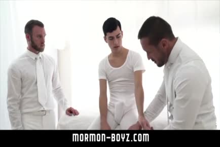 Two dads seduce younger boy MORMON-BOYZ.COM