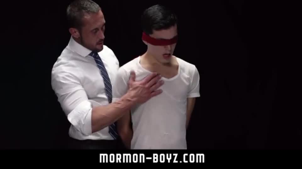 Mormonboyz intense muscle daddy priest blindfolds and barebacks misbehavi
