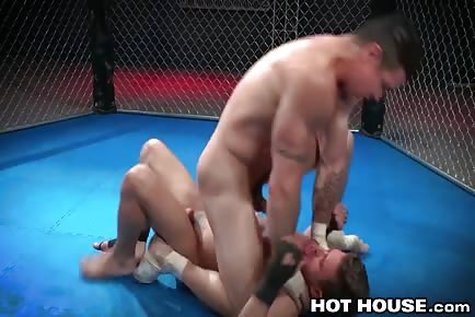 Ripped Guys Wrestling For Deep Ass Fucking