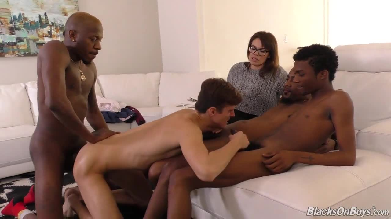 Ebony Fucks White Neighbor