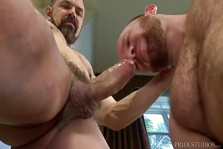 Ginger Hole Takes Big Bear Cock Deep Inside And Moans