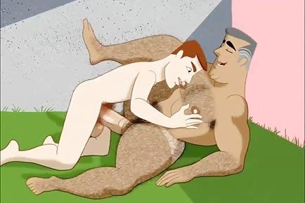 Bubble butt daddy gay cartoon sex animation
