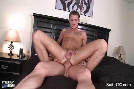 Inked Gay With Huge Cock Bangs Tight Butt Till Cumshot