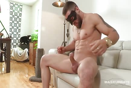 Young Bearded French Boy Wanks His Big Cock