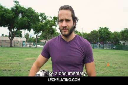 Hot Latin football player POV sucking and anal outdoor-LECHELATINO.COM
