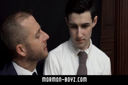 Furry Daddy licks and fucks younger boy ass MORMON-BOYZ.COM