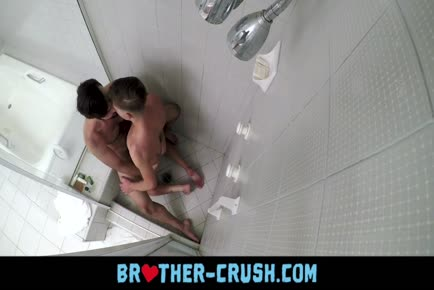 Older hairy cousin rims and fucks twink in the shower BROTHER-CRUSH.COM