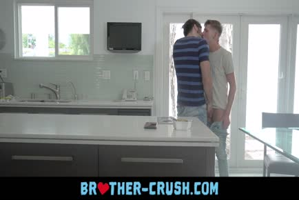 Boy has spontaneous gays sex in kitchen with older bearded cousin BROTHER-CRUSH.COM