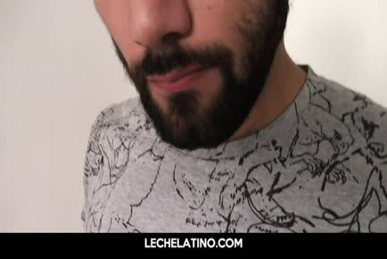Hairy POV bareback anal from big uncut Latin cock LECHELATINO.COM
