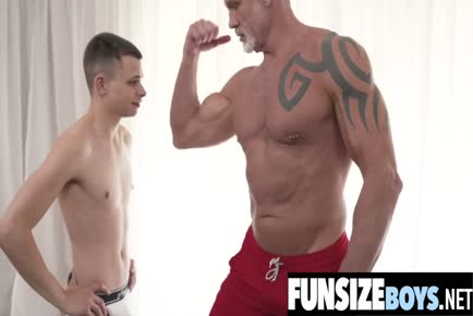 Tiny boy 69 with huge cock older daddy