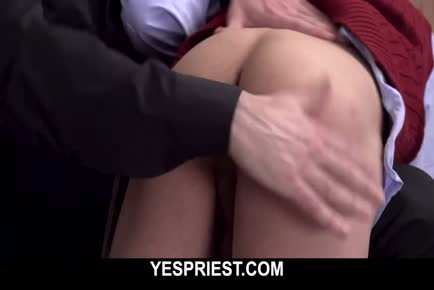 Hung church boy gets spanked by a deviant priest and then fucks hard YESPRIEST.COM