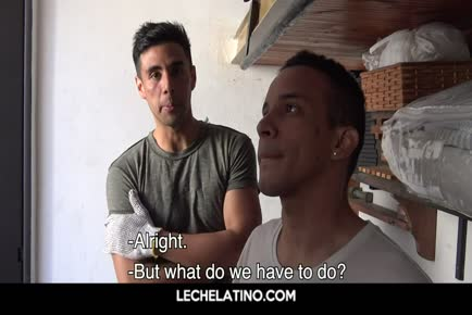 Hung uncut cock having Latin guys end fuck session with warm cum facial LECHELATINO.COM
