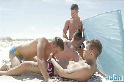 Gay sex on the beach