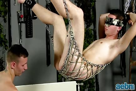 Blindfold swing sex