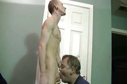 Daddy sucking redneck dick