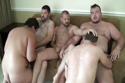 Gay Bear Hairy Orgy