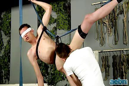 Blindfolded Bum Boy Damien