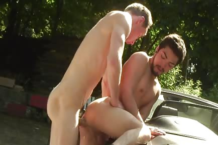 Asian Fucked On Car