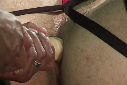 Closeup HD anal dildo