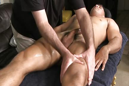 Military oily cock massage